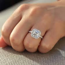 wedding ring test asscher cut 14k white gold 4ctw df engagement wedding lab grown