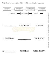 weekdays worksheet 4 math worksheets kindergarten worksheets