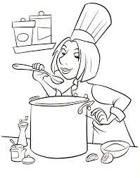 dessin ustensile de cuisine dessins coloriage cuisine imprimer sur page ratatouille colette