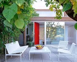 small courtyard designs patio contemporary with swan chairs modern furniture warehouse living room midcentury with mar