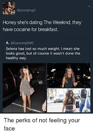 So Much Cocaine Meme - hug honey she s dating the weeknd they have cocaine for breakfast
