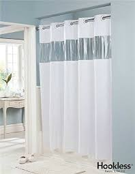 Hookless Shower Curtain Vision Vinyl Shower Curtain Hookless White With