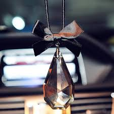 car charm ornaments bling water drop charms and bow for