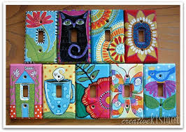 Hand Painted Light Switch Plates Creativity Pinterest Light