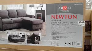 sofa chaise convertible bed pulaski newton convertible chaise sofa costco weekender