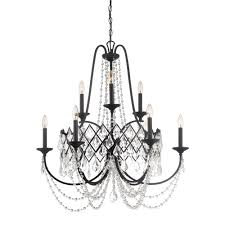 Crystal And Bronze Chandelier Eurofase Bellezza Collection 5 Light Bronze Chandelier With