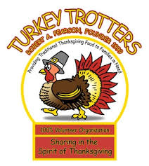 pack deliver thanksgiving meals with turkey trotters thursday