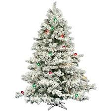 vickerman pre lit flocked alaskan pine tree with 200