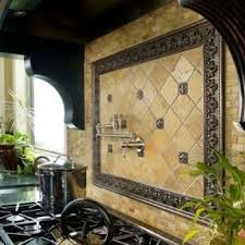 kitchen backsplash metal medallions metal tile inserts foter