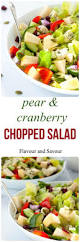 asian pear and cranberry chopped salad recipe