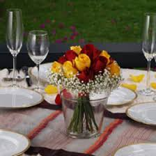 Red Rose Table Centerpieces by Wedding Centerpieces Dark Pink Roses Calla Lilies Bouquets Ideas