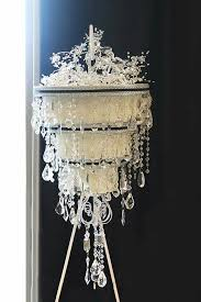 Upside Down Crystal Chandelier 32 Best Cake Chandelier Images On Pinterest Chandelier Wedding