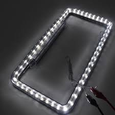 lexus accessories license plate auto car styling neon license plate frame led car light all car
