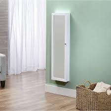 Door Armoire Innerspace Over The Door Wall Hang Mirrored Jewelry Armoire