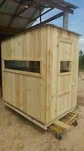 Deer Blind Plans 4x6 Poor Man U0027s Hunting Box Blind Shooting House Build Plans Deer