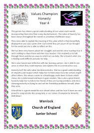 honesty wenlock church of england junior