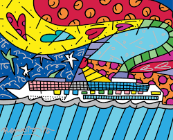 romero britto artisans of the world romero britto porthole cruise magazine