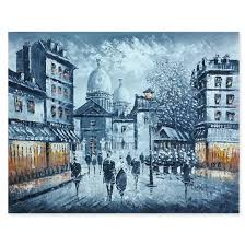 oil painting paris and the eiffel tower 1001cado