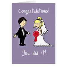 Funny Wedding Wishes Cards Funny Wedding Congratulations Card Zazzle Com