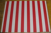 Red And White Striped Awning U0026 Pole Awning Rv Workshop