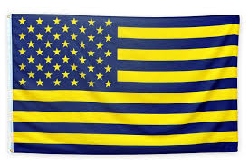 Michigan Flags Amazon Com Maize And Blue American Flag 3 By 5 Foot Flag With