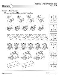 mental maths worksheets grade 1 maths worksheets for kids