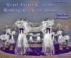 purple and silver wedding second marketplace dr3amweaver royal purple wedding