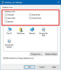 remove recycle bin windows 10 desktop