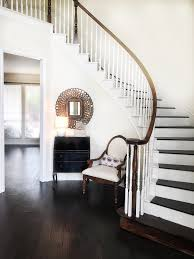 Entryway Paint Colors From Thriftyniftynest Instagram Wood Stairs Diy Stair Risers