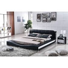faux leather bed frame king size us pride furniture black and