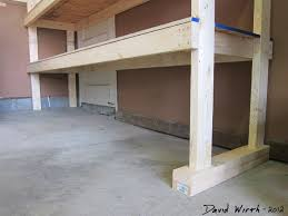 Plans For A Garage by How To Build A Shelf For The Garage