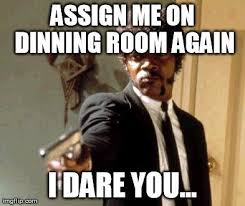 Chick Fil A Meme - i actually begged to be on dining room i was constantly outside or