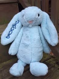 personalized easter bunny personalized plush easter bunny monogrammed easter bunny