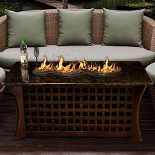 Fire Pit With Glass by La Costa Del Rio 54 Inch Propane Fire Pit Table By California