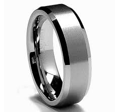 mens wedding band metals 8mm tungsten metal men s wedding band ring in comfort fit and