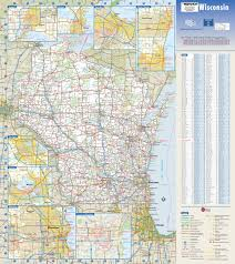 Wisconsin Topographic Map by Wisconsin State Map