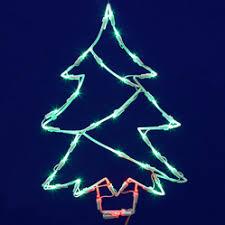 Window Ornaments With Lights Window Decorations Santa S Quarters