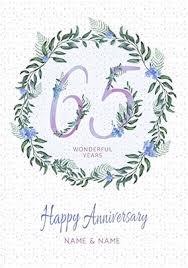 65 wedding anniversary 65th wedding anniversary cards blue sapphire funky pigeon