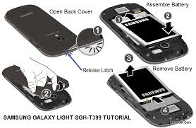 galaxy light t mobile galaxy light sgh t399 user manual open cover remove