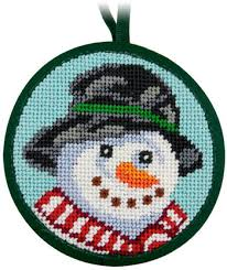 dimensions happy snowman needlepoint kit 71