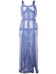 blue margarita attico long frayed trim u0027margarita u0027 dress light blue