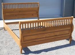 Pine Sleigh Bed Frame Pine Slatted Sleigh Bed Pc Condo Bedroom Options