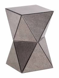 Zuo Christabel Folding Bar Table Prism Mirror Side Table By Zuo Modern