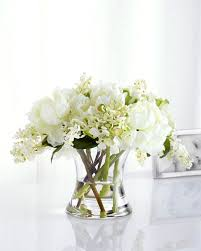 Faux Floral Centerpieces by White Silk Floral Arrangement Horchow Com