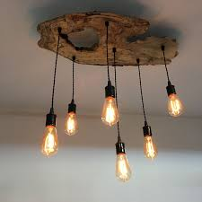 Chandelier Covers Sleeves Custom Made Medium Live Edge Olive Wood Chandelier Rustic And