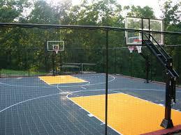 Backyard Sport Courts Backyard Design Good Backyard Basketball Court Cost Carolbaldwin