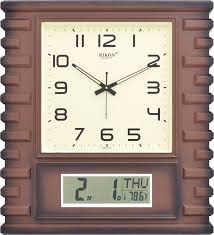 buy rikon rk 06 lcd brown ivory lcd wall clock features price