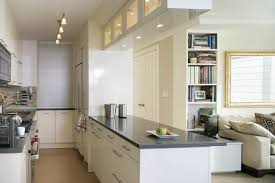 White Living Room And Open Kitchen Designs  Kitchen Cabinet - Small kitchen living room design ideas