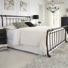 Metal Sleigh Bed Abell Sleigh Bed Reviews Joss
