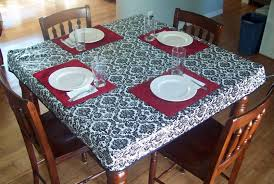 dining room tablecloths decorating beautiful fitted tablecloths for cozy dining table